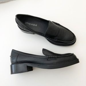 Jeffrey Campbell Black Loafers